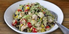 Mexican Quinoa Salad with Lime Cilantro Dressing