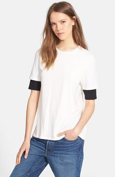 6397 Layer Sleeve Crewneck Tee available at #Nordstrom