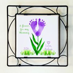 Mothers Day Crafts For Kids Discover Baby Hand and Footprint Flower Art Plaque w Black Wrought Iron Frame/Trivet Babys Actual Hand or Footprints Handprint Art Special Gift Baby Hand and Footprint Flower Art Plaque w Black Wrought Iron Kids Crafts, Mothers Day Crafts For Kids, Daycare Crafts, Fathers Day Crafts, Baby Crafts, Toddler Crafts, Preschool Crafts, Infant Crafts, Grandparents Day Crafts
