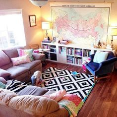 Kids Friendly Living Room Layout.