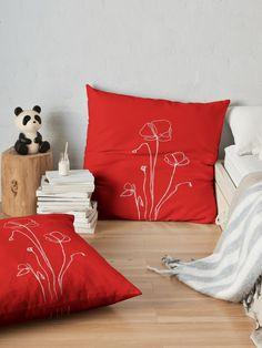 Roter Mohn Bodenkissen Von Anna Maisner Bett Kissen Bodenkissen Kissen