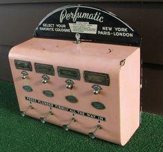 The Perfumatic -- a vintage perfume vending machine  via Lara via Dorothea's Closet Vintage