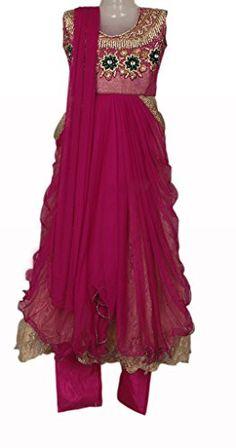 Megenta Pink Colour Kids/ Girls Punjabi Suit, Vasundhara Fashions Indian Clothing