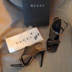 HPx2{Stunning GUCCI Heels} Worn for four hours to an indoor. Wedding, received endless compliments when I wore them. I paid $600+tax, originally they retailed for $950. Flawless condition with box, extra heel caps and a dust bag. Serious buyers only please, no trades or Paypal. Gucci Shoes Heels