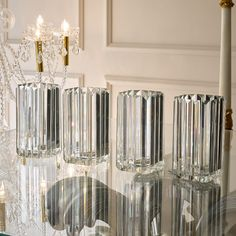 Set Of Four Luxury Crystal Glass Candle Holders - Juliettes Interiors Lantern Candle Holders, Candle Stand, Glass Candle Holders, Candle Lanterns, Glass Trinket Box, Church Candles, Flickering Lights, Hurricane Lamps, Flower Lights