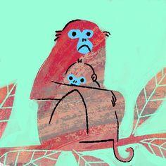 307 отметок «Нравится», 15 комментариев — Carolina Búzio (@carolinabuzio) в Instagram: «Monkey #illustration number 3! #100monkeys #100daysproject»
