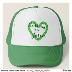 Kiss me Shamrocks Heart with your Name