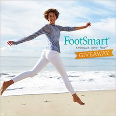 Share with us how you embrace your feet for your chance to win a $200 FootSmart gift certificate. Here are some of our favorite ideas: stretching feet before exercising, getting a pedicure, moisturizing with foot cream or replacing insoles every two months.