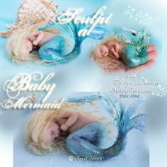 Learn to sculpt fairies in polymer clay. Sculpt One of a Kind Fairies. Get DVDs and supplies here. Online Courses also available. Learn how right now! Mermaid Gifs, Baby Mermaid, Mermaid Art, Doll Videos, Making Glass, Baby Fairy, Beautiful Babies, Body Shapes, Snuggles