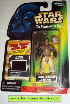 star wars action figures LANDO CALRISSIAN SKIFF GUARD freeze frame 1998 power of the force hasbro toys moc mip mib