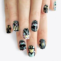 Ananas Nail Stickers ($13) ❤ liked on Polyvore featuring beauty products, nail care, nail treatments, nails, makeup, beauty and nail polish