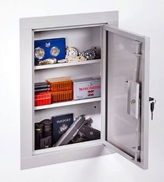 Wall Gun Safe : Stack-On IWC-22 In-Wall Cabinet