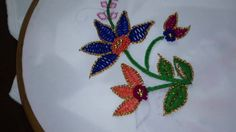 hand embroidery-Gold work-leisha's galaxy. - YouTube