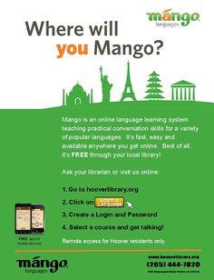Learn new languages through Mango.