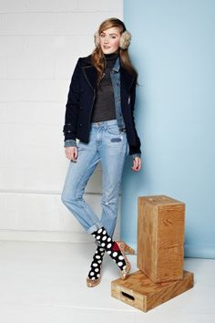 clever layers with polka dot socks