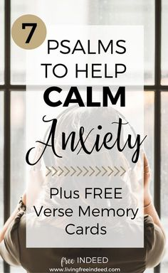 7 Psalms to Help Calm Anxiety - Free Indeed Test Anxiety, Deal With Anxiety, Anxiety Relief, Stress Relief, Bible Quotes, Bible Verses, Scriptures For Anxiety, Faith Quotes, Toddler Activities