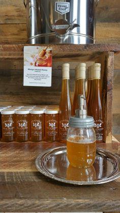 Mango infused honey.