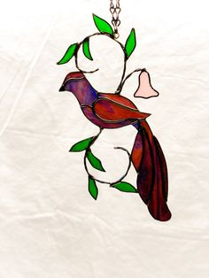 Your place to buy and sell all things handmade Stained Glass Patterns Free, Stained Glass Birds, Window Hanging, Shop Window Displays, Suncatchers, Decoration, Blue Bird, Nature, Art Pieces