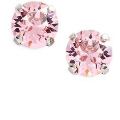 Women's L. Erickson 'Grace' Crystal Stud Earrings (€31) ❤ liked on Polyvore featuring jewelry, earrings, swarovski crystal jewelry, swarovski crystal earrings, l. erickson, swarovski crystal stud earrings and stud earrings