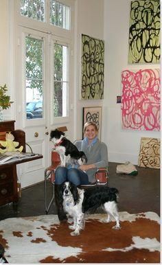 Amanda Stone Talley in her studio