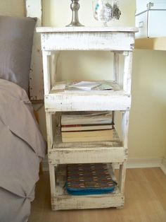 Be Sweetly Inspired: DIY nightstand from old wood- a free project!