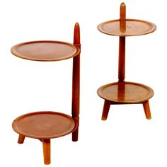 Pair of Danish, 1940s End Tables
