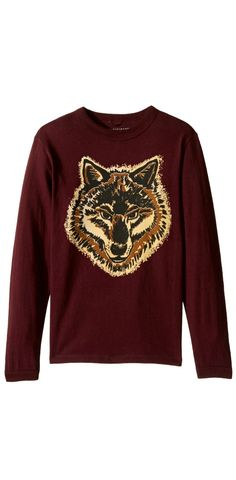 On the prowl for creature comforts? Your boy will be over the moon for the #StellaMcCartney #Kids Gene #Wolf #Printed #T-Shirt.  #boys #child #children #childrenswear #apparel #clothing #tops #t-shirts #tees