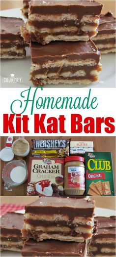Homemade Kit Kat Bars recipe from The Country Cook