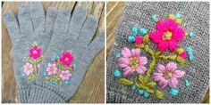 Afbeeldingsresultaat voor geborduurde handschoenen patroon