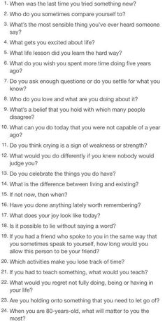Thought-provoking questions <3