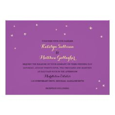"Summer Night Fireflies | Wedding 5"" X 7"" Invitation Card"