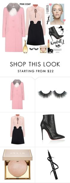 """Untitled #4620"" by teastylef ❤ liked on Polyvore featuring Miu Miu, xO Design, Christian Louboutin, Stila and Christian Dior"
