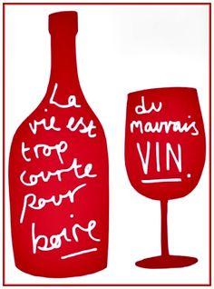 """Vin"" Wine Bottle & glass Typography Quotes __[global.rakuten.com] #cRed #cWhite #edit"