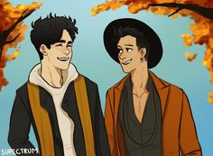 """ its finally autumn  malec"""