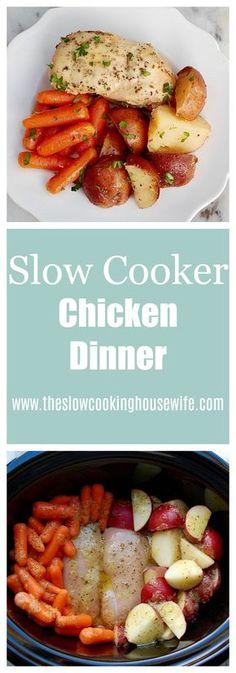 Slow Cooker Dinner; Chicken & Potatoes