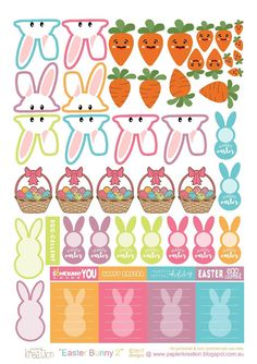Free Printables Planner Sticker - Easter Bunny Part 2 from PapierKreation