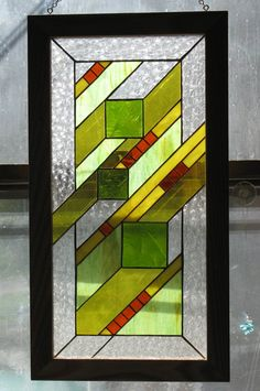 "Stained Glass Hanging ""mi Ami"""