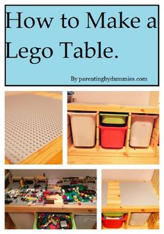 Lego table - as soon as the hubby gets over the stomach bug, this will be his new building project for our son