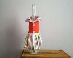 WINE bottle dress handmade red wine bottle sleeve di viadeinavigli