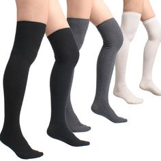 35b6710bb4b Cotton Cable Knit Over the Knee High Socks (One Size