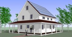 A Vermont manufacturer of structural insulated panels has launched a line of kit houses that should generate as much power as they consume. Kits include photovoltaic panels, ductless minisplit heating and cooling, and triple-glazed windows.