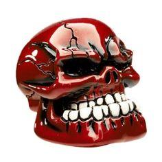 Metallic Red Jaw Custom Gearstick Skull Resin Gear Knob Stick Hotrod American GM   eBay