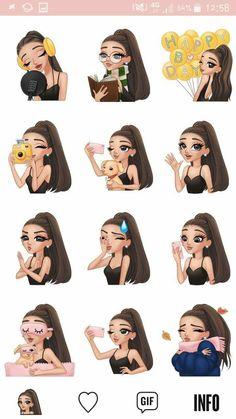 Airaannananana❤❤ Ariana Grande Anime, Ariana Grande Drawings, Ariana Grande Fans, Ariana Grande Photos, Ariana Grande Background, Ariana Grande Wallpaper, Cute Girl Wallpaper, Cartoon Wallpaper, Cute Girl Drawing