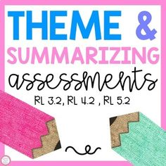 This pack has a theme assessment and a summarizing assessment for students to do using their own books or a book of your choice. Rubrics are included for both assessments and there are also examples for each assessment. The examples are done for the books The Tiger Rising by Kate DiCamillo, Fly Awa... Reading Resources, Reading Activities, Teacher Resources, Classroom Resources, Teaching Ideas, High School Classroom, Elementary Teacher, Elementary Schools, First Grade Activities