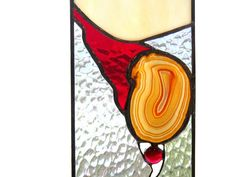Stained Glass Sun Catcher Agate Stained Glass Panel