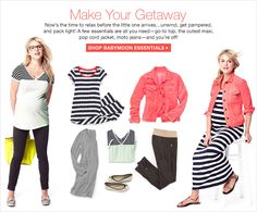 What to wear for mommy's-to-be when traveling! So helpful! #Gap