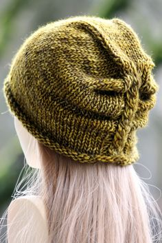 I'm Lichen This Hat Balls to the Walls Knits, A collection of free one- and two- skein knitting patterns