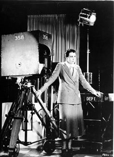 director Dorothy Arzner was the only female filmmaker in the studio system. She acted, dressed and was treated like a man. Paved the way for women directors.