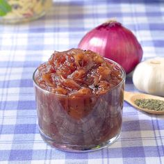 Red Onion Jam - an intensely flavorful, sweet and tangy accompaniment to grilled chicken or pork, with steak or on burgers.