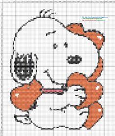 Dibujos Punto de Cruz Gratis: Snoopy - Punto de cruz